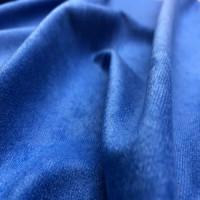 Велюр алоба синий