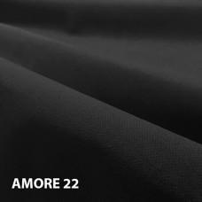 Велюр мебельная ткань для обивки Amore 22 black, черный
