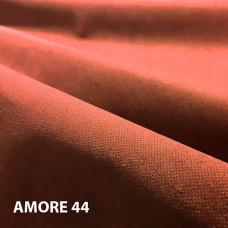 Велюр мебельная ткань для обивки Amore 44 orange, оранжевый
