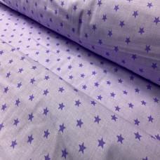 Ткань звезды фиолетовые 100% хлопок Польша