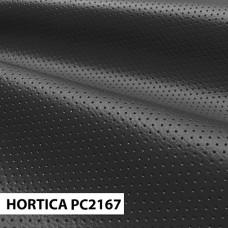 Экокожа hortica pc2167 черно-серая перфорация