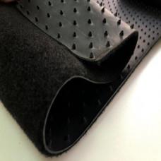 Автоковролин, прорезиненная основа, черный