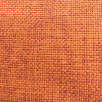 Рогожка обивочная ткань для мебели оранжевая крафт 28