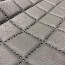 Экокожа термопайка (термостежка) темно-серая 1 мм,  ППУ 5 мм + сетка