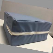 Медицинский кожзам для пошива защитных костюмов сине-серый
