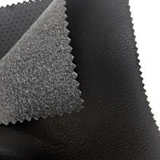 Экокожа Auto-Hortica C2167MF на микрофибре, черно-серая, гладкая, 1,2 мм