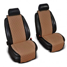 Накидки на сиденья авто коричневые (комплект, 2 передних)