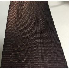 Лента ремня безопасности 36 темно-коричневая